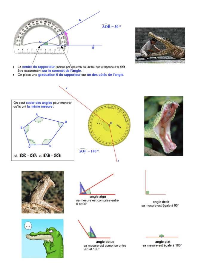 leçon-mesurer un angle