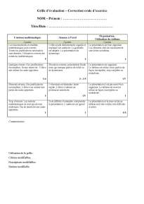 Grille évaluation orale