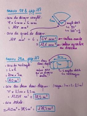 Correction 28b et 29a page 167