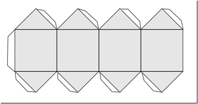 patron de cube aux côtés pointus[1]